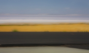 Sky, salt lake, dry grass, asphalt, Turkey, 2013