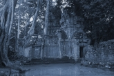 Angkor Wat, cyanotype