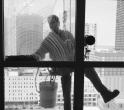 Window washer, Chicago, 2010