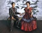 The 2 Fridas (Salma Hayek), version3, Mexico City, 2001
